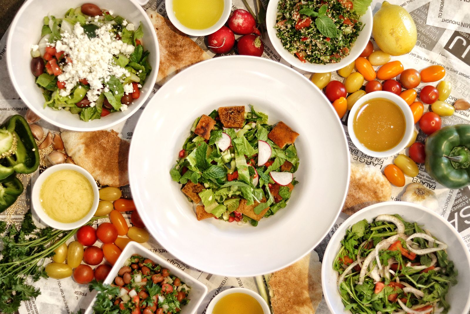 SAJJ Mediterranean Launches Five Classic Mediterranean Salads