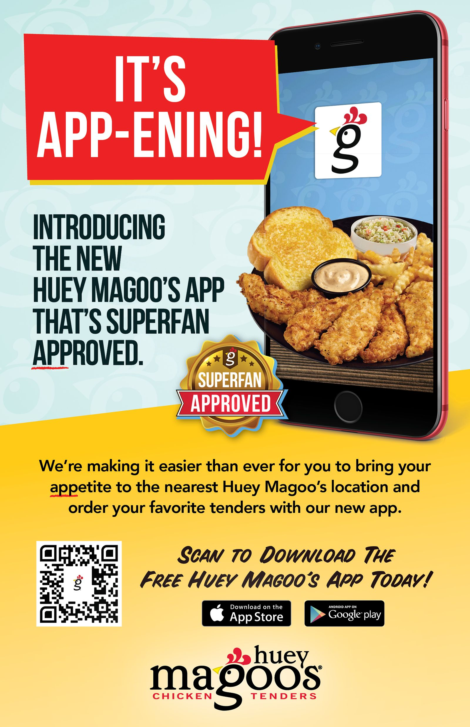 Huey Magoo's Chicken Tenders Introduce New Free Mobile App