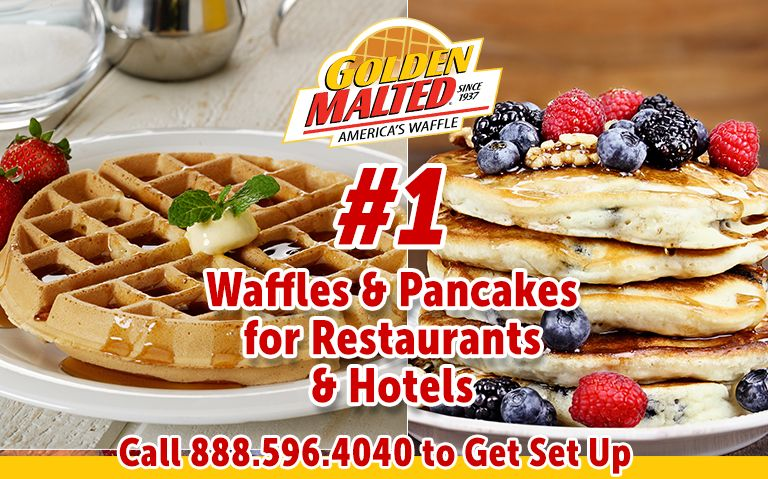 Serve America's Favorite Waffles & Pancakes - #1 Mixes from Golden Malted