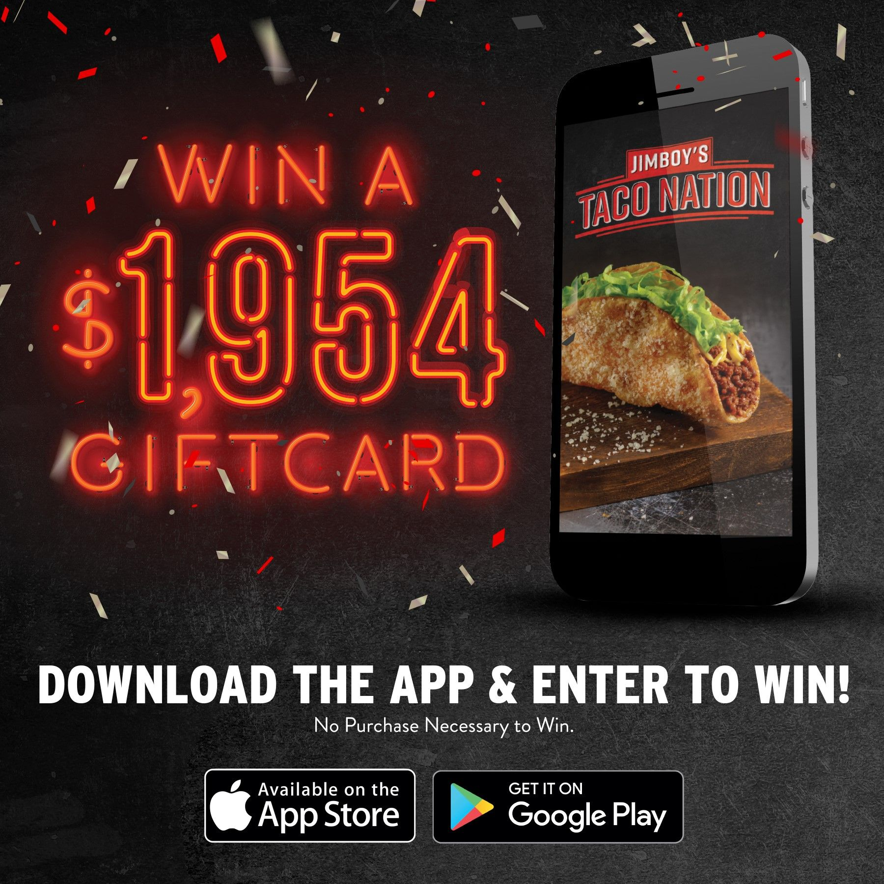 sweepstakes app jimboy s tacos launches mobile app with 1 954 sweepstakes 6762