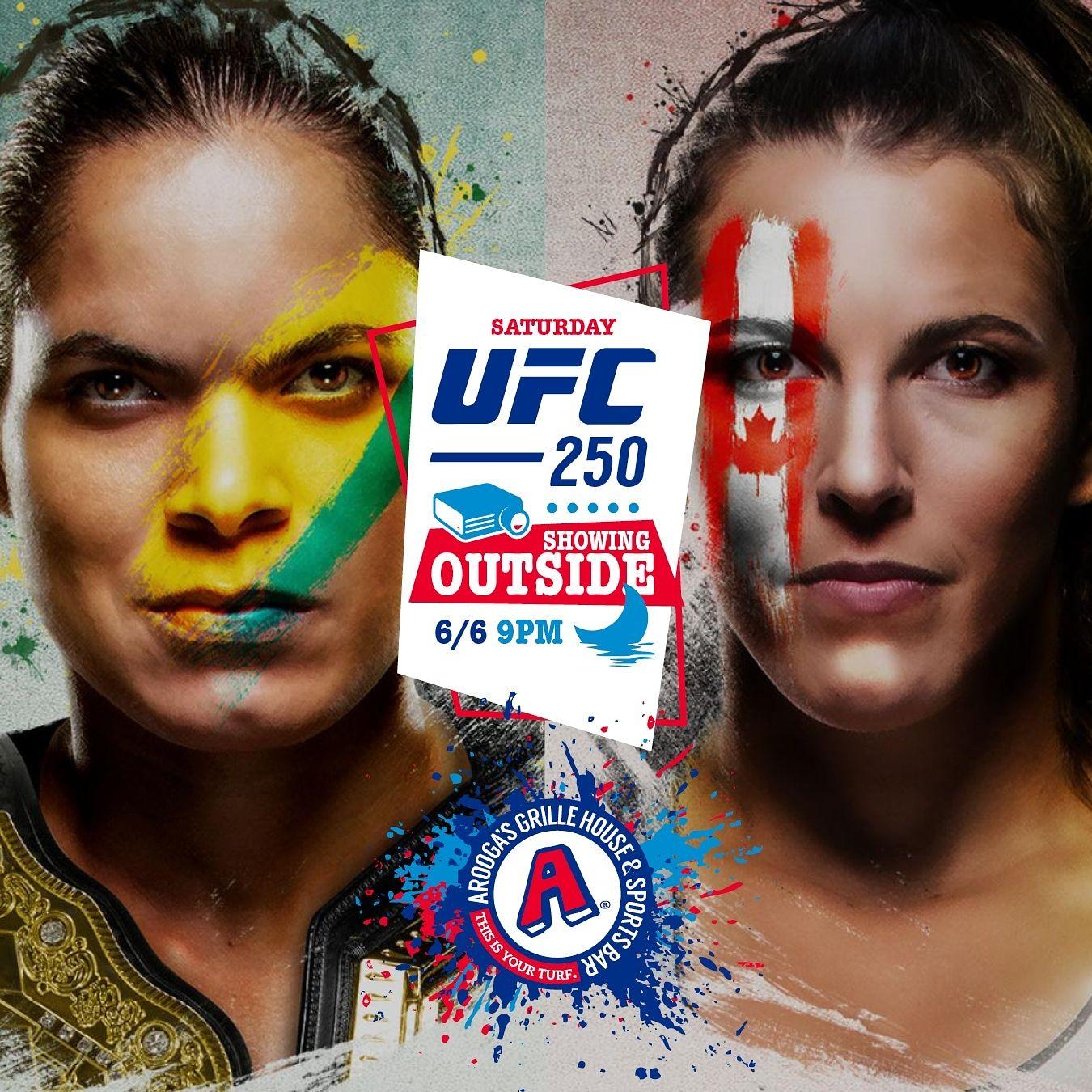 Le Grille House et le bar des sports d'Arooga montreront le style d'entraînement de l'UFC 250 de ce soir